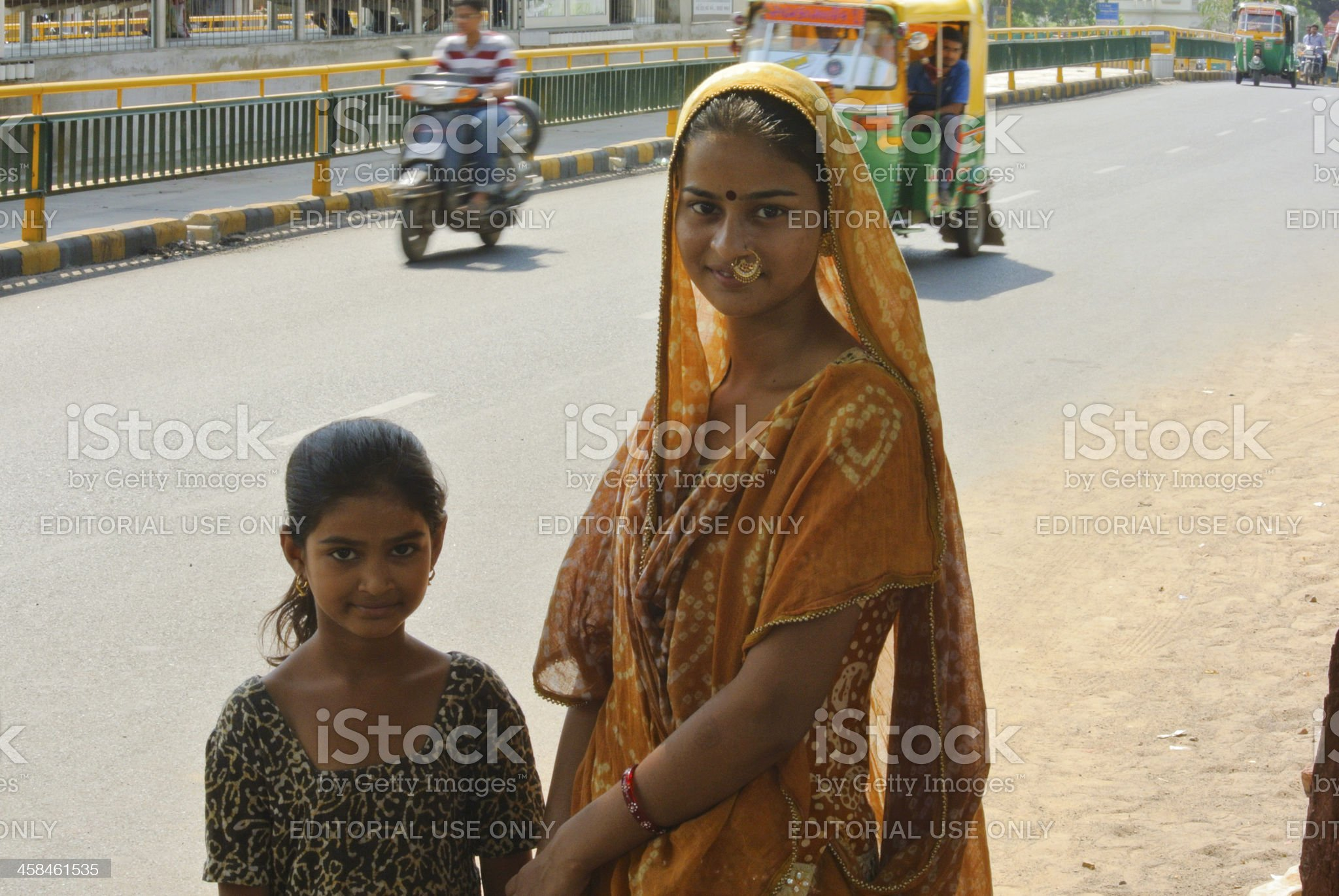 Young Gujarati sisters royalty-free stock photo