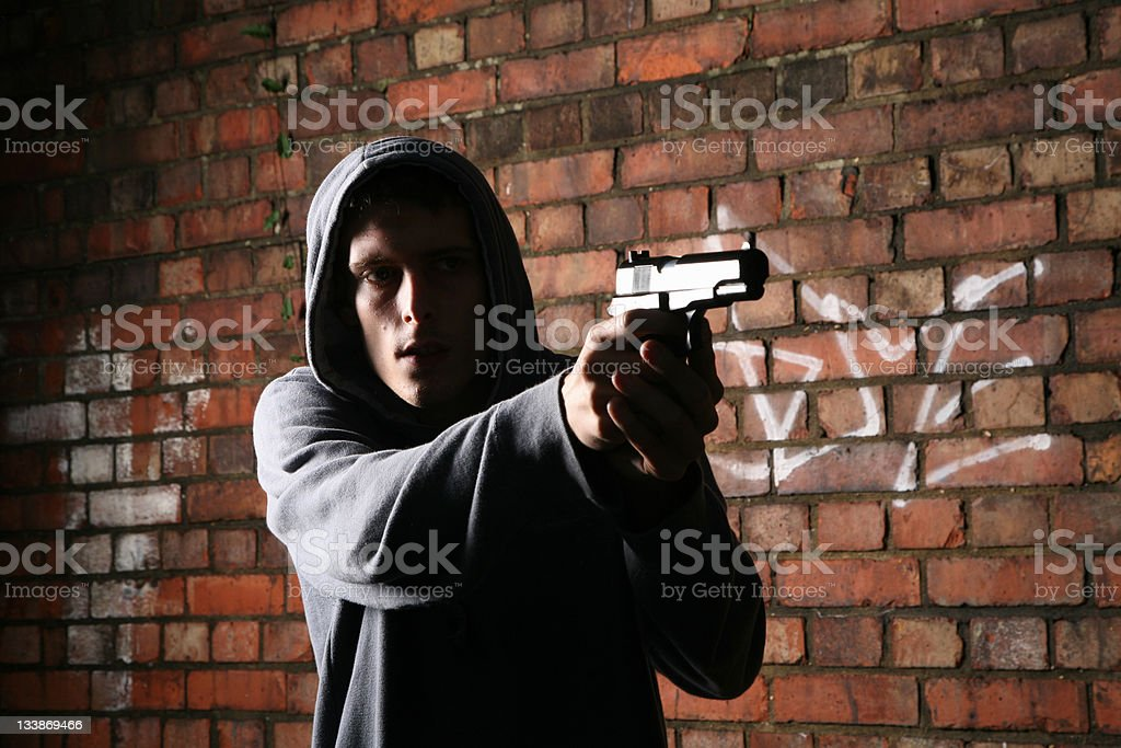 Young Gun Criminal stock photo