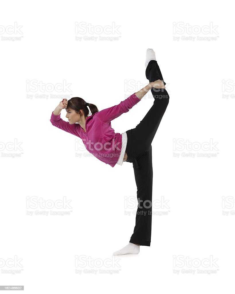 Young gymnast stock photo