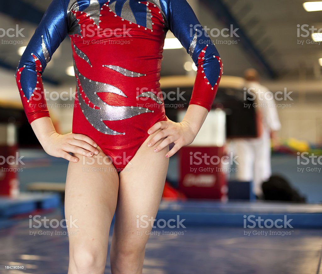 Young Gymnasts Mid Section royalty-free stock photo