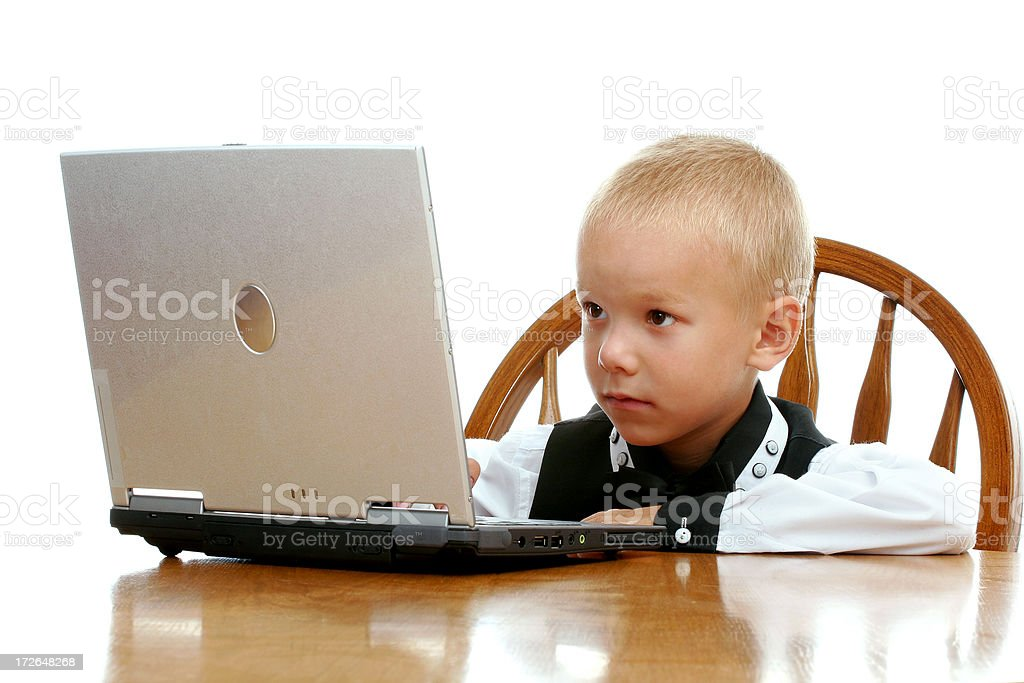Young hacker at work royalty-free stock photo