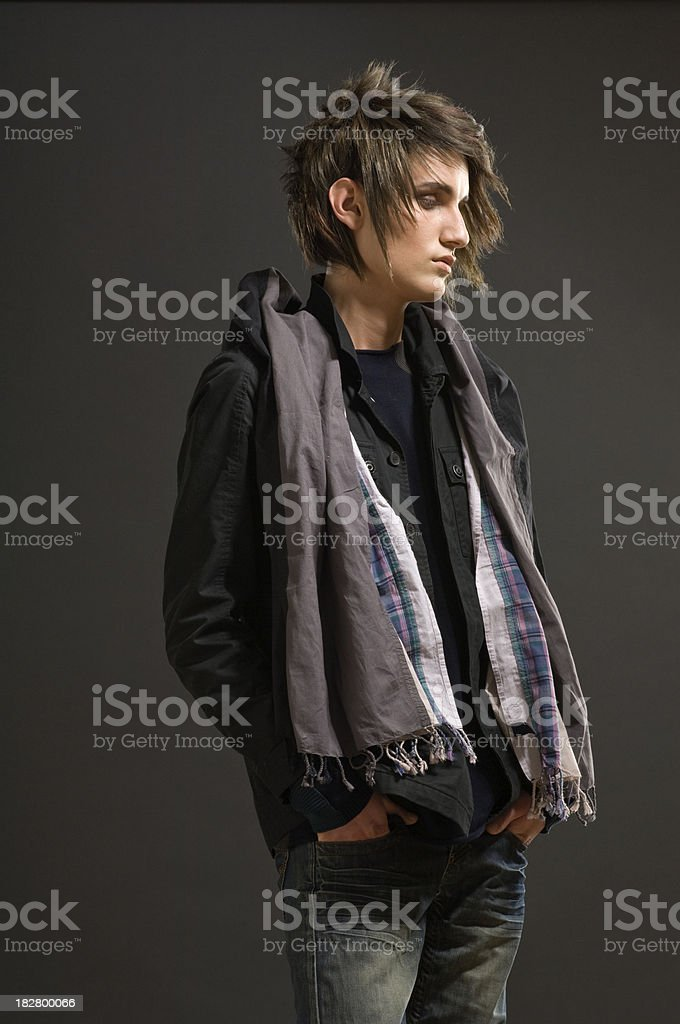 Young hair styled man portrait. royalty-free stock photo