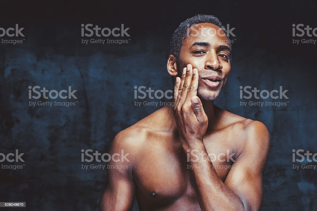 young handsome african-american man stock photo