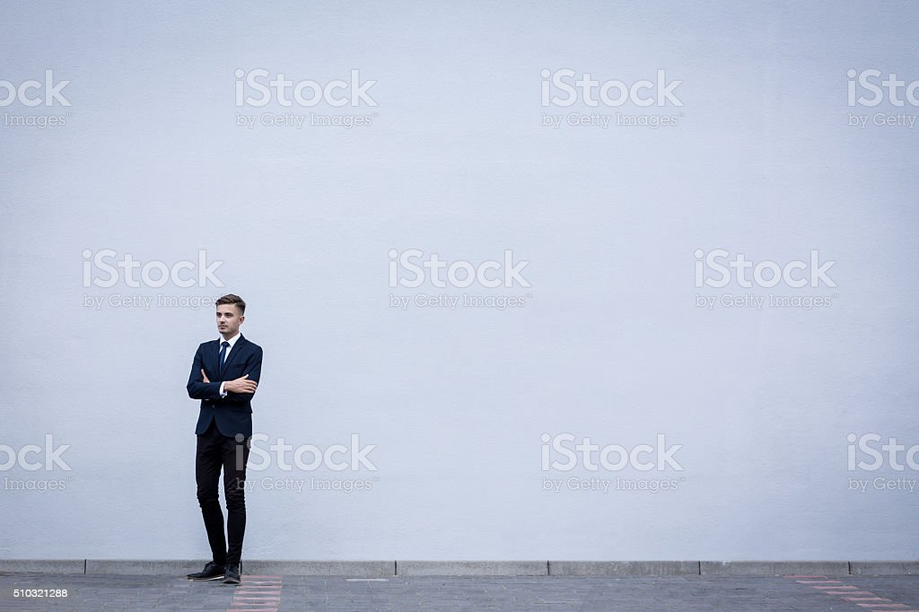 Young handsome businessman stock photo