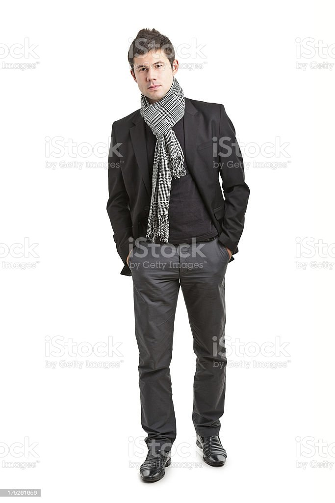 young handsome man in jacket royalty-free stock photo