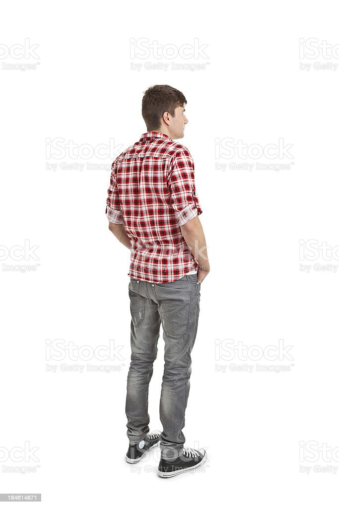 young handsome man stock photo