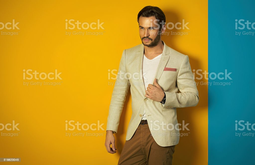 Young handsome man posing stock photo
