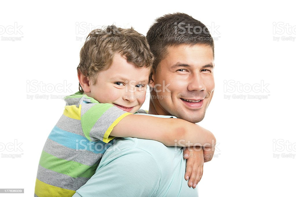 young handsome man with younger brother royalty-free stock photo