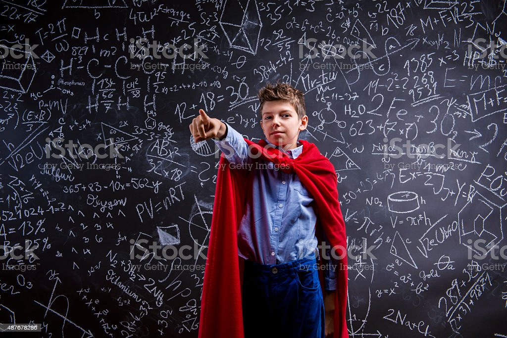 Young handsome school boy stock photo