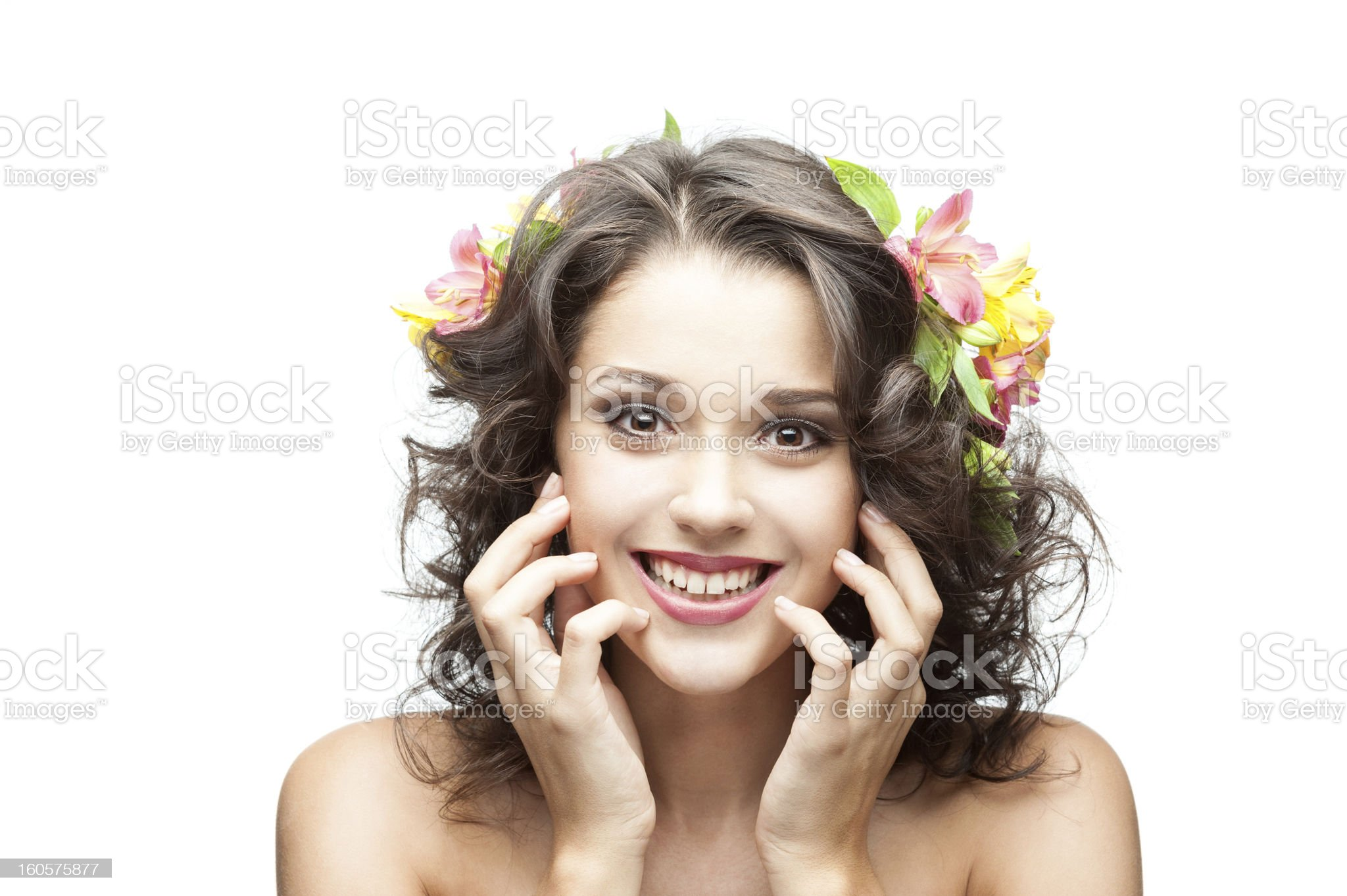 young happy brunette girl royalty-free stock photo