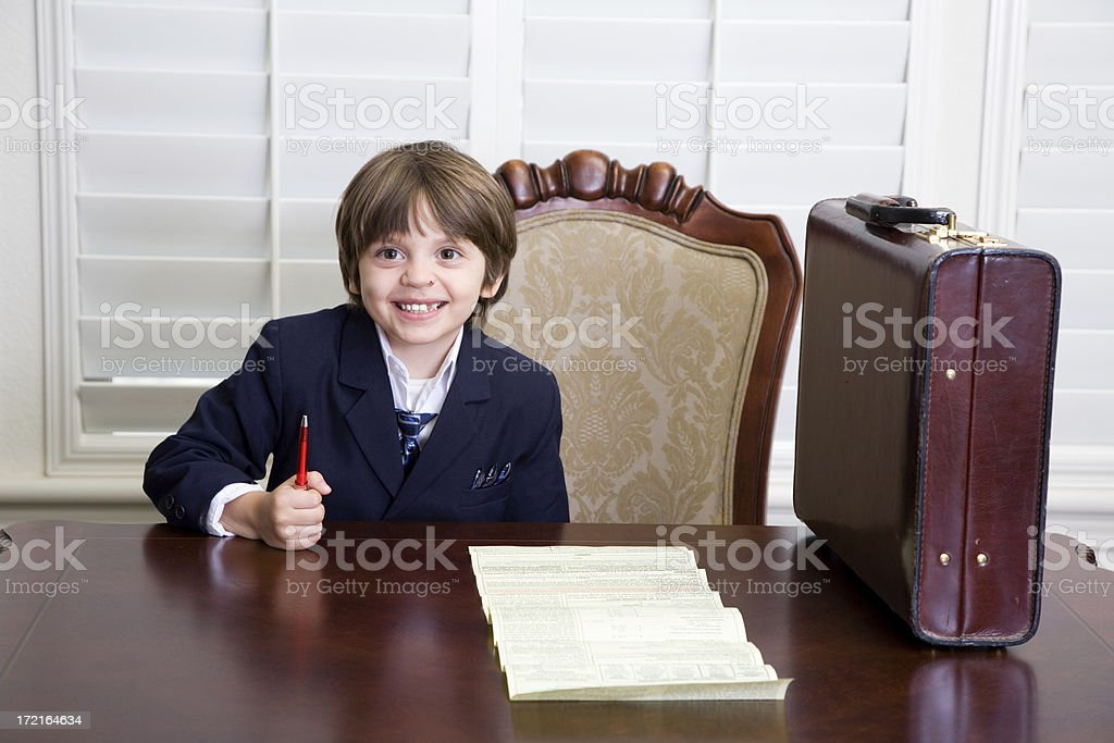 Young Happy Businessboy royalty-free stock photo