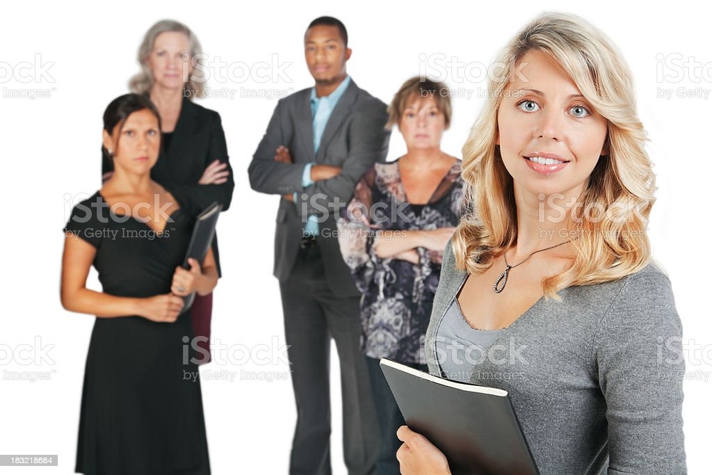 Young Happy Businesswoman With her Business Team royalty-free stock photo