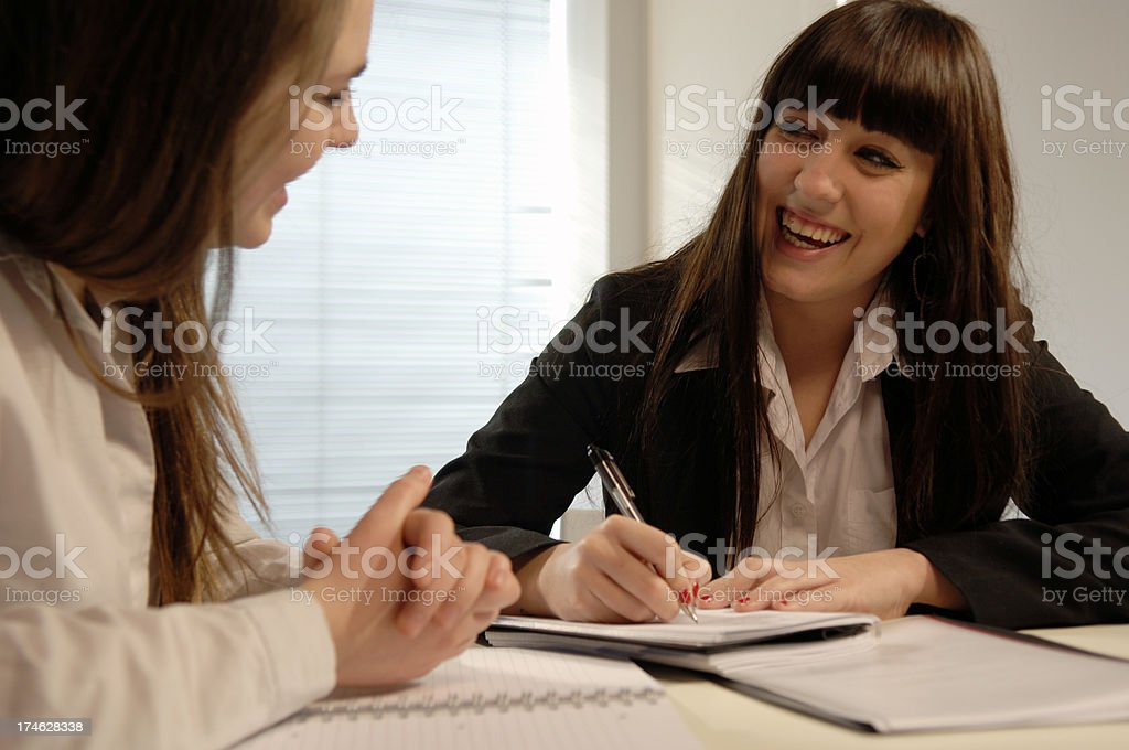 Young Happy Co-Workers royalty-free stock photo