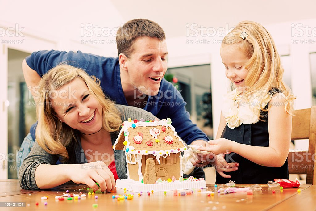 Young happy family royalty-free stock photo