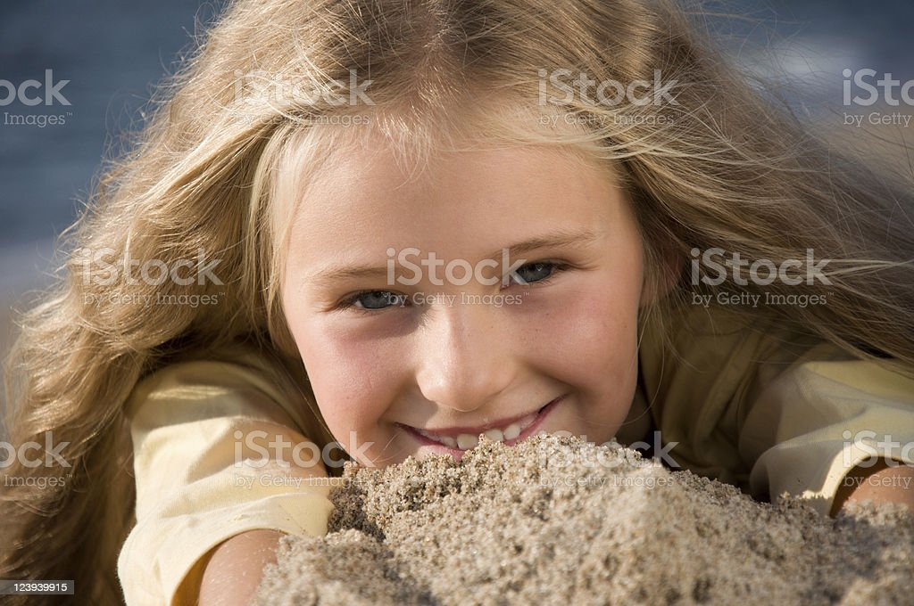 Young happy girl stock photo