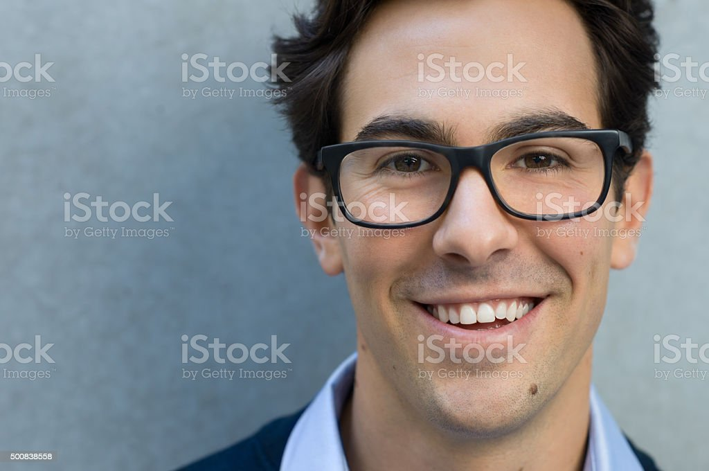 Young happy man stock photo