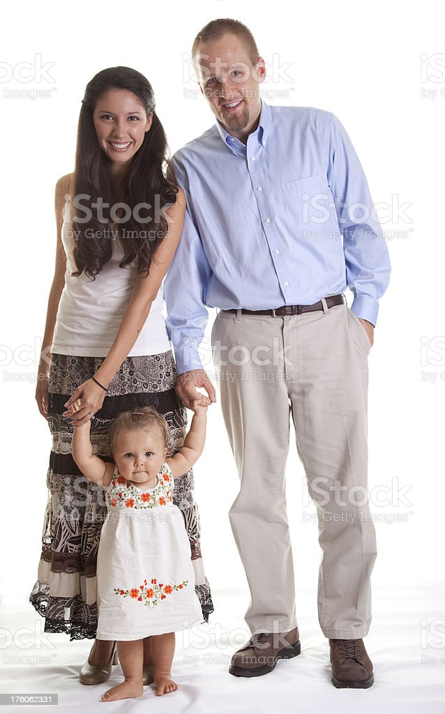Young Happy Multi-Ethnic Family with Baby royalty-free stock photo
