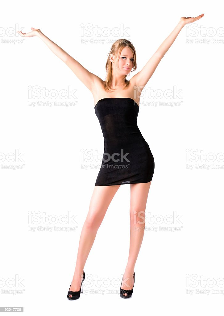 Young happy sexy woman stock photo