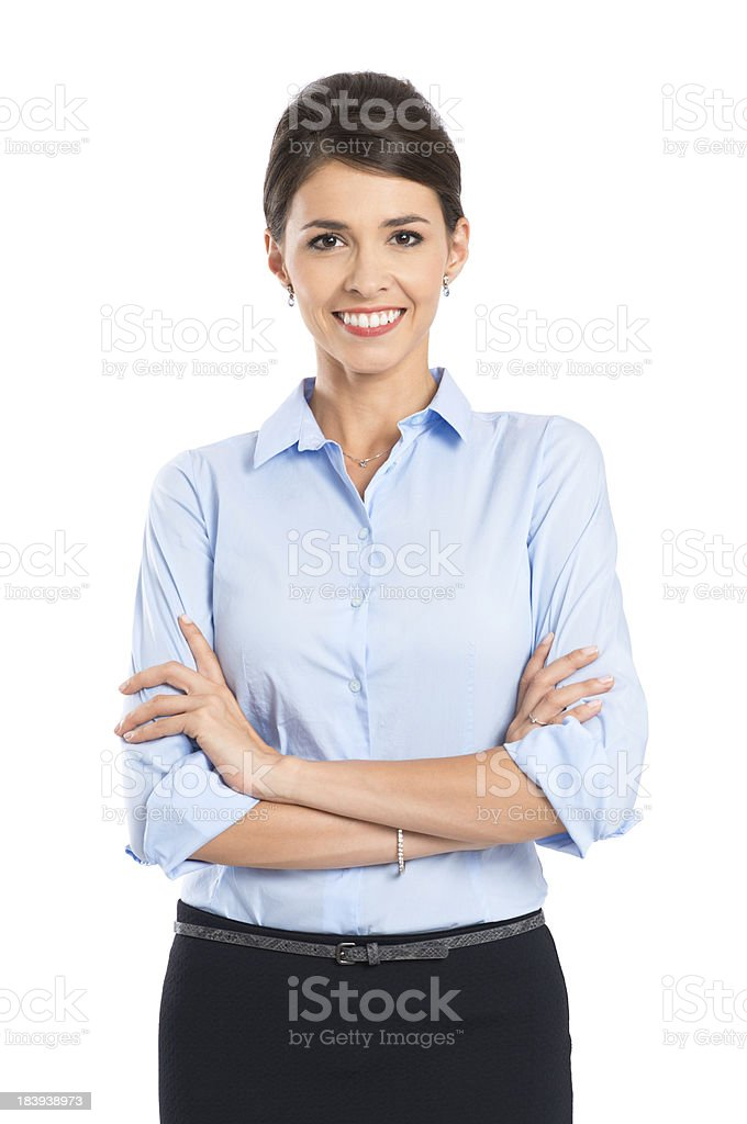 Young Happy Smiling Businesswoman stock photo