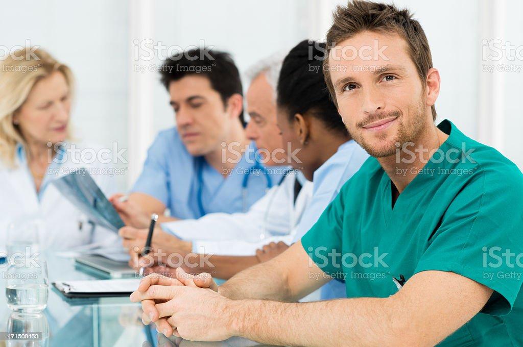 Young Happy Surgeon stock photo
