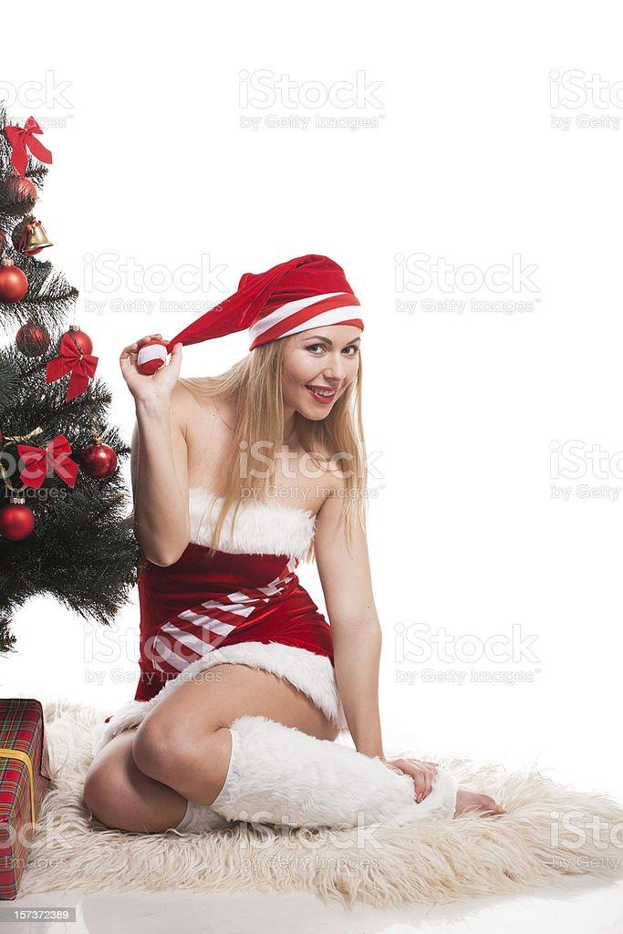 Junge glückliche Frau Lizenzfreies stock-foto