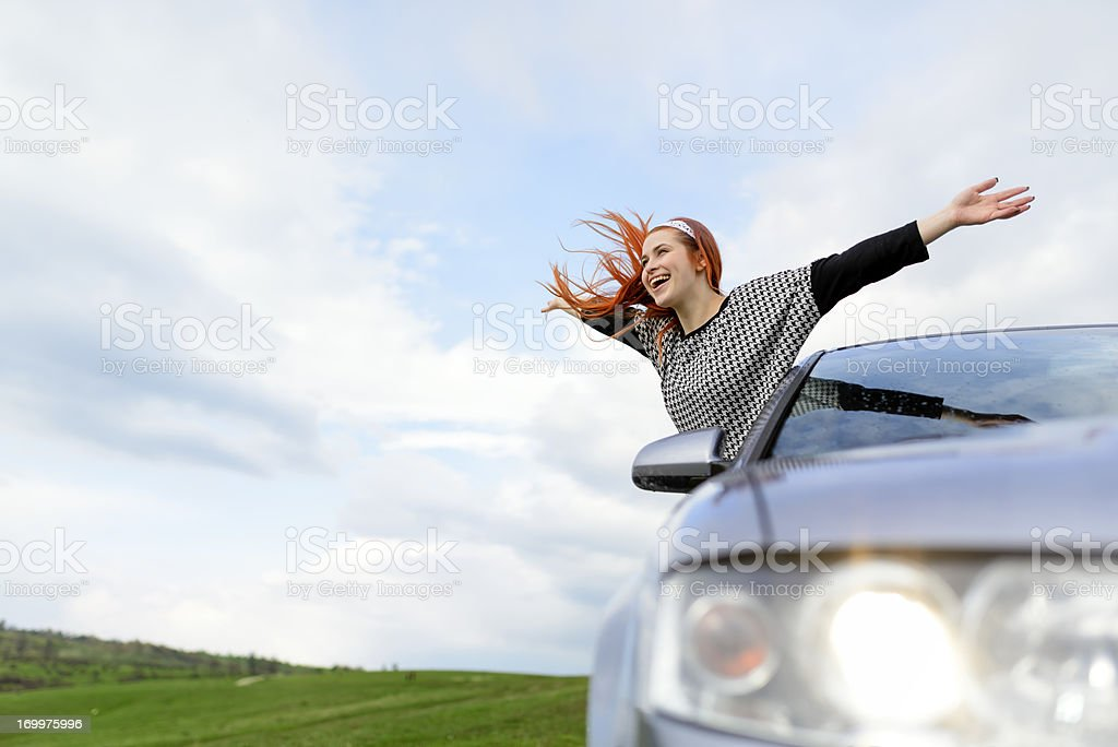 young happy woman royalty-free stock photo