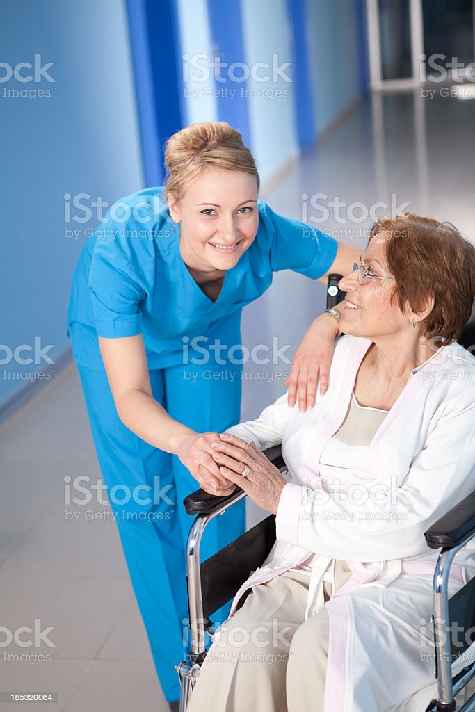Young Healthcare Worker and Senior Patient royalty-free stock photo