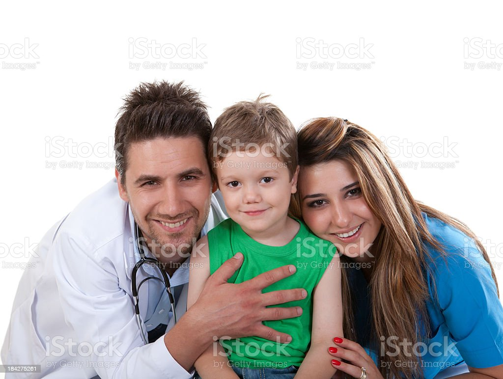 Young Healthcare Workers and Child royalty-free stock photo