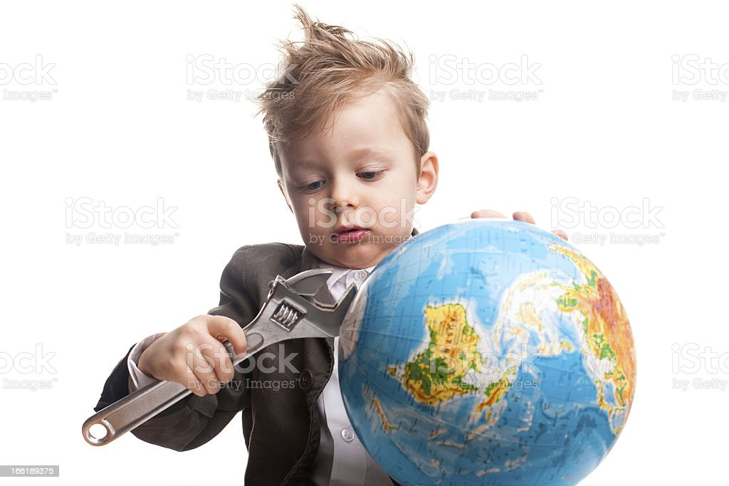 Young hero royalty-free stock photo