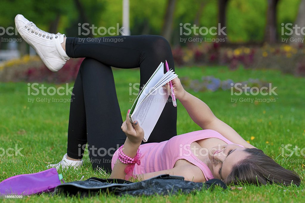 young high school student or college girl royalty-free stock photo