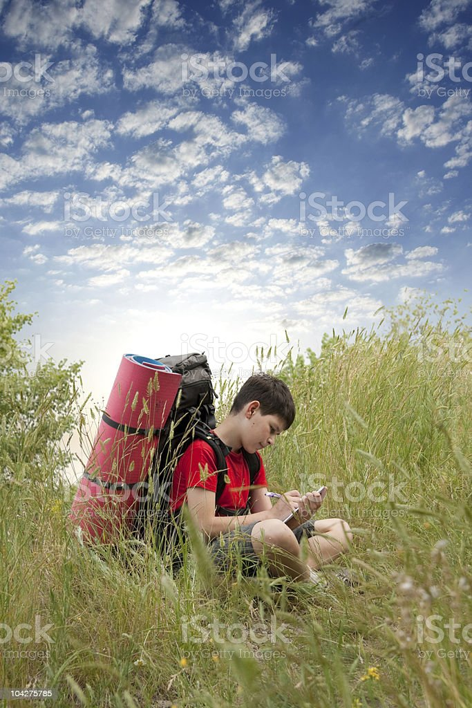 young hiker royalty-free stock photo