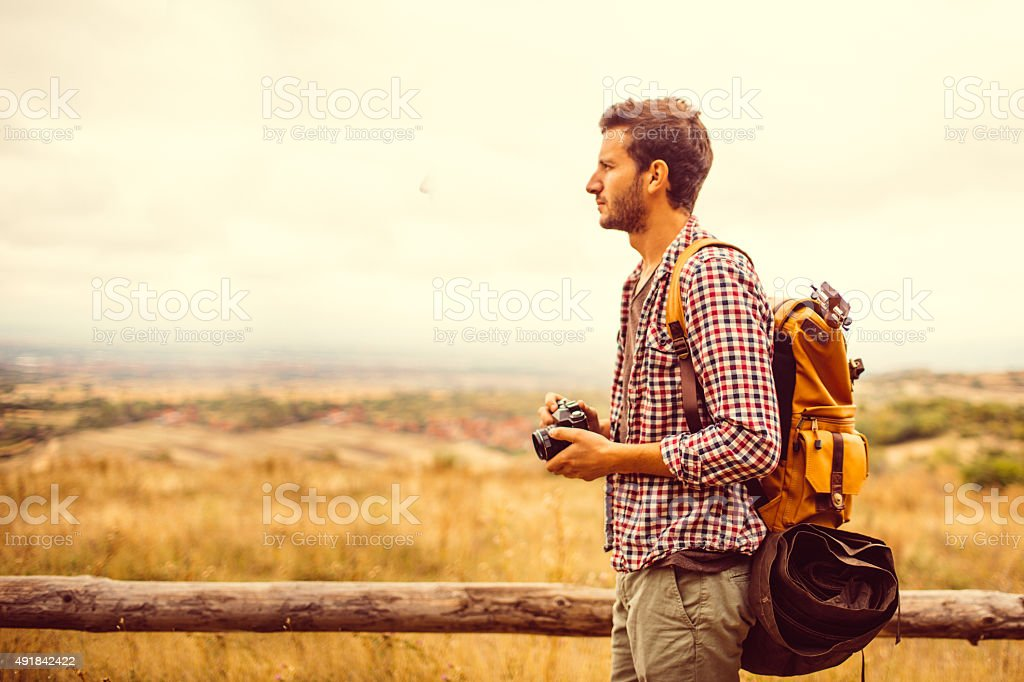 Young hiker stock photo