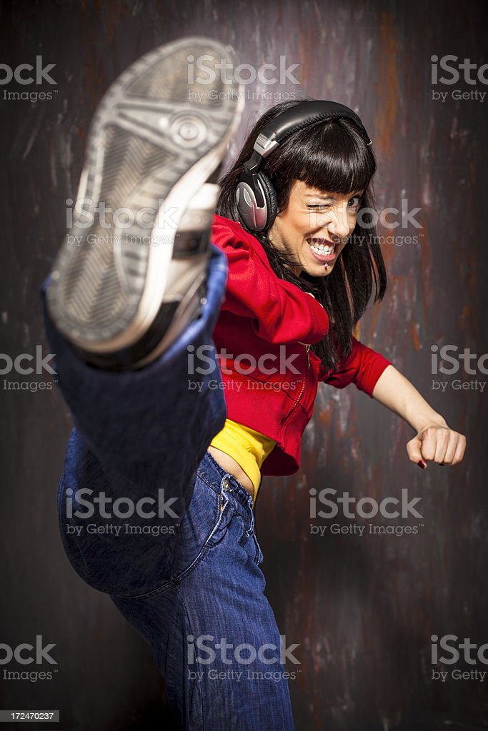 Young hip hop dancer royalty-free stock photo