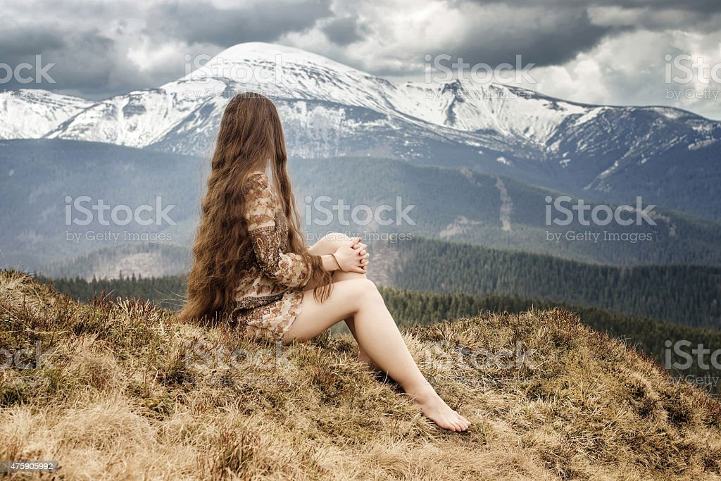 Young hippie stock photo