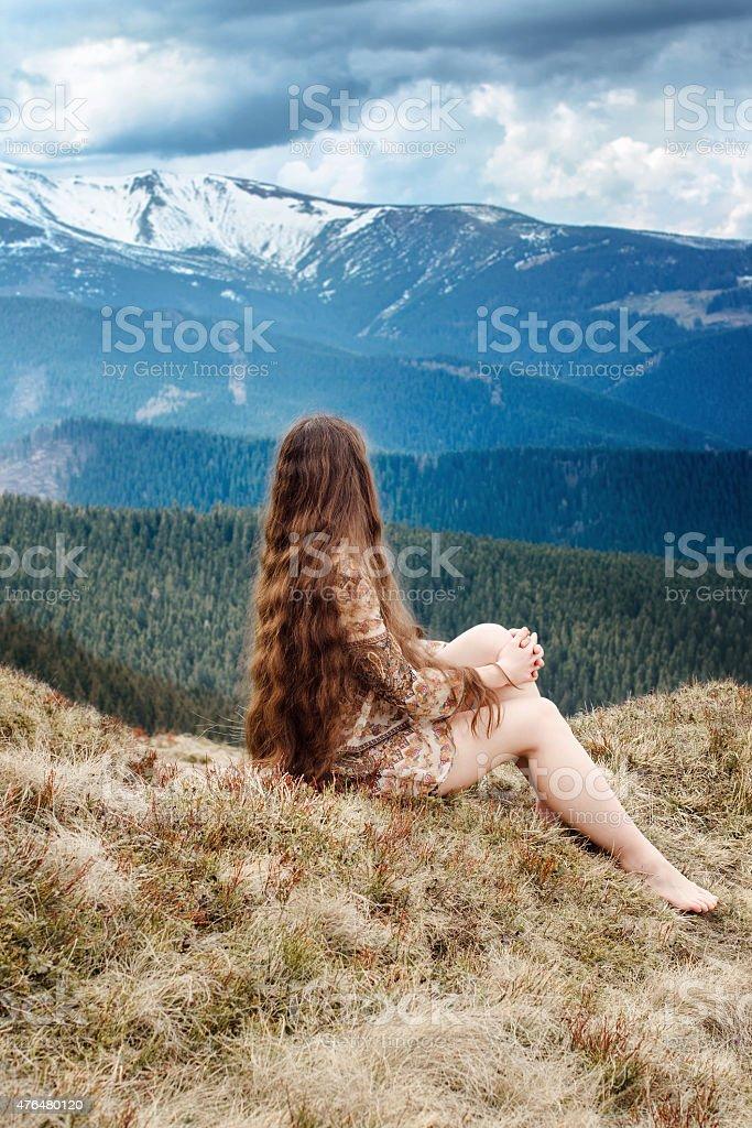 Jeune hippie photo libre de droits