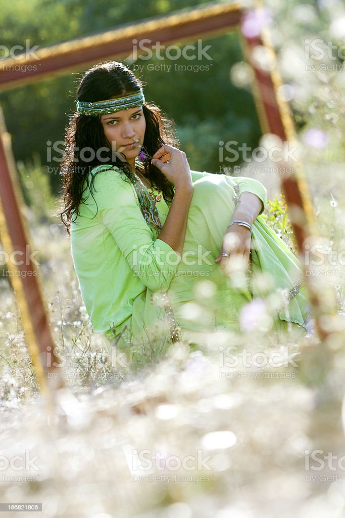young hippie woman royalty-free stock photo