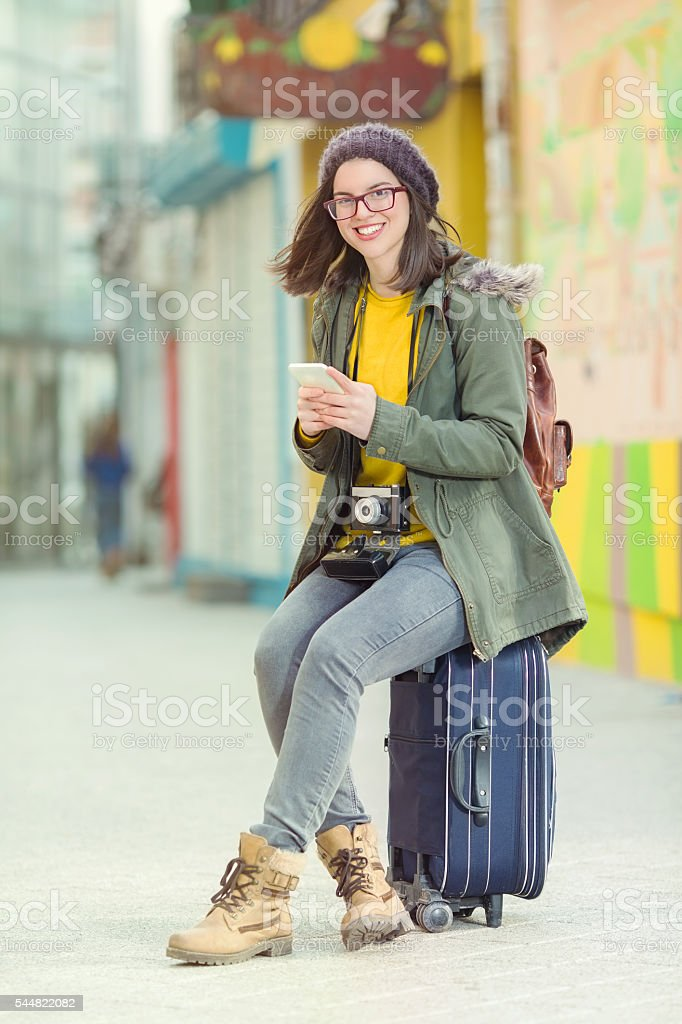 Young Hipster Girl stock photo