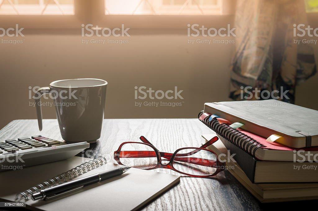 Young hipster in workplace stock photo