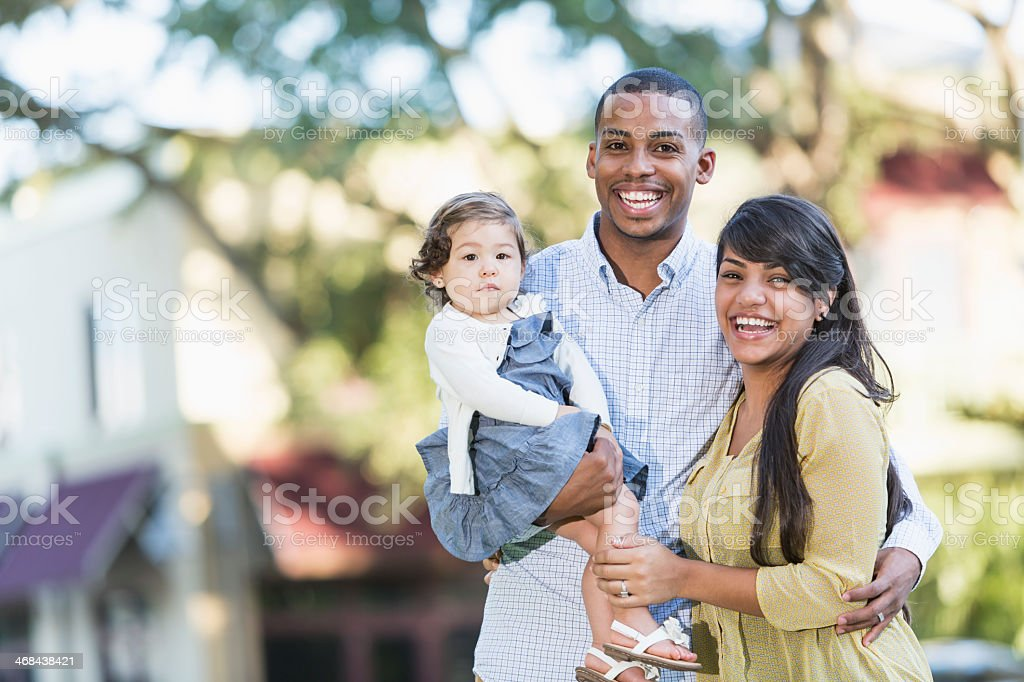 Young Hispanic family stock photo