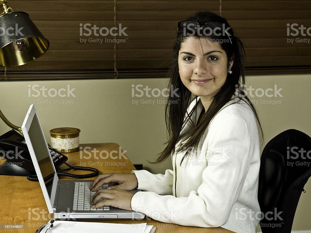 Young Hispanic Secretary royalty-free stock photo