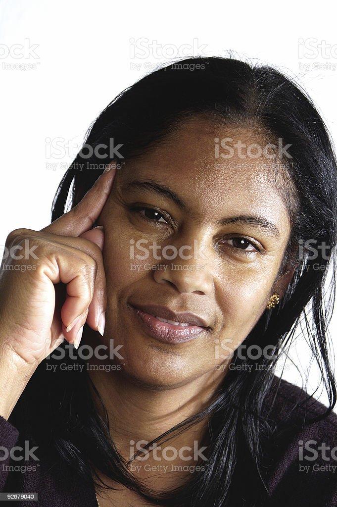 Young hispanic woman royalty-free stock photo