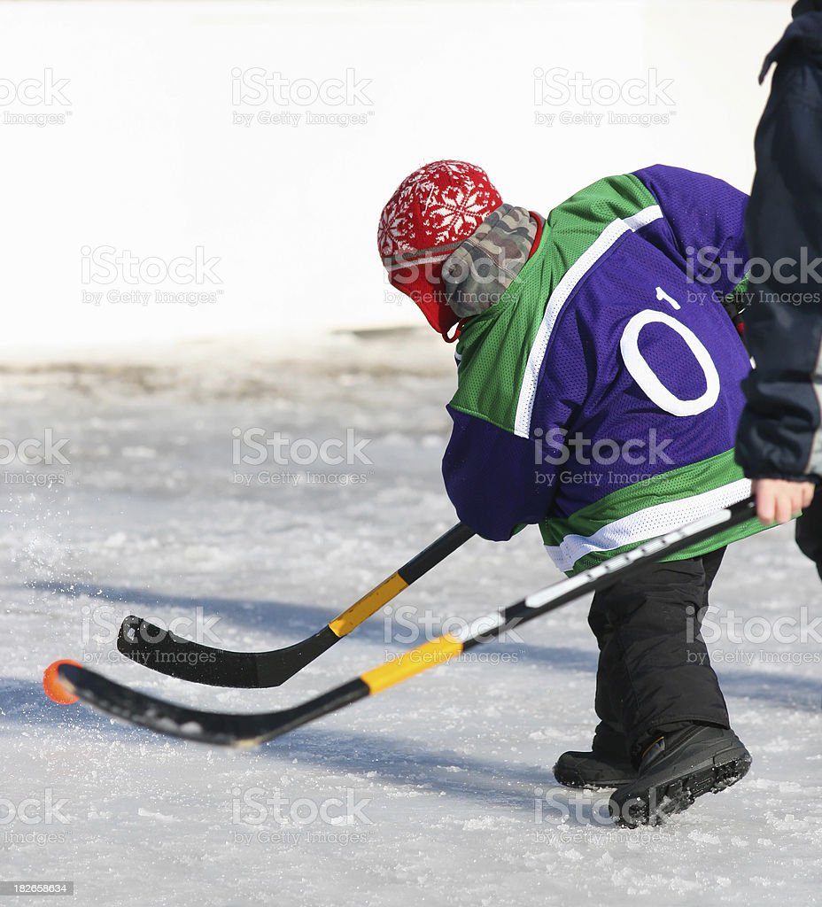 Young Hockey Player royalty-free stock photo