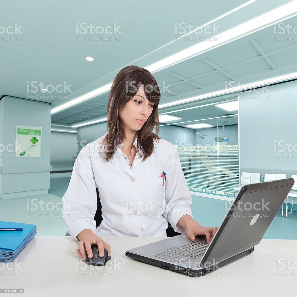 Young hospital administrative stock photo