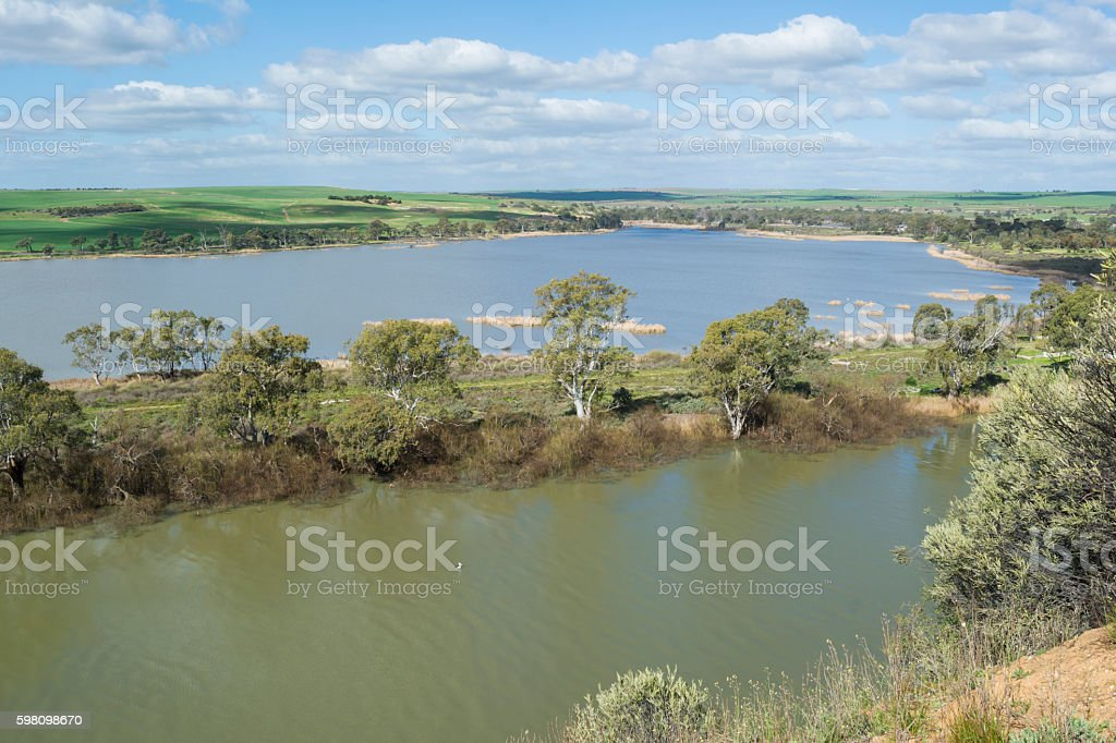 Young Husband, Murray River, South Australia stock photo
