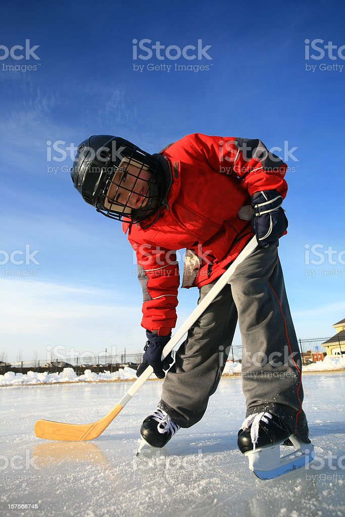 Young Ice Hockey Player royalty-free stock photo