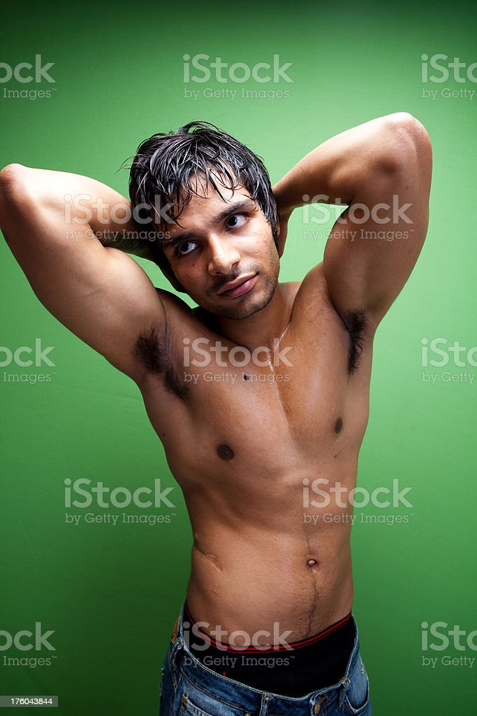 Young Indian Boy with fit body royalty-free stock photo