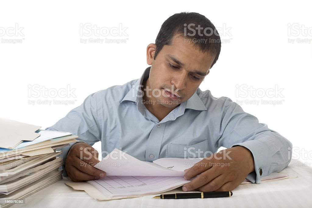 Young Indian businessman or Office Employee at Work royalty-free stock photo