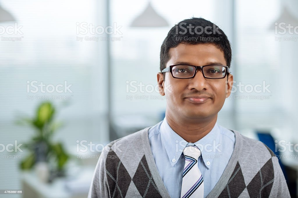 Young Indian businessman stock photo
