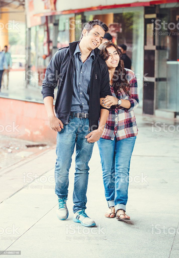 Young indian couple bonding stock photo
