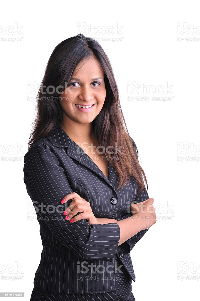 Young Indian executive smiling royalty-free stock photo